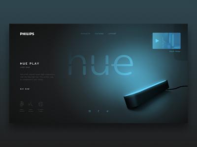 Philips Hue Play Concept play hue philips minimalist concept web design web ui design