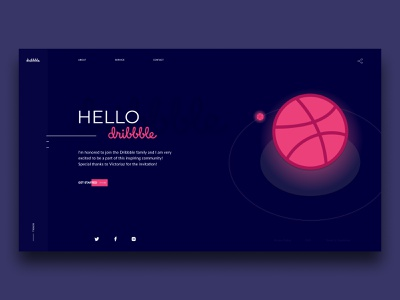 Hello Dribbble! minimalist web design design web ui first shot debut hello dribbble dribbble