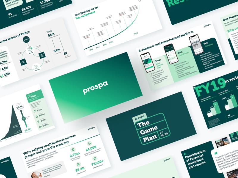 Pressos finance powerpoint slide screen landscape branding 16:9 layout report reporting proposal presentation deck slides fintech