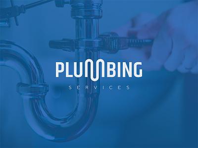 Plumbing Services mark logo water pipe heating plumbing