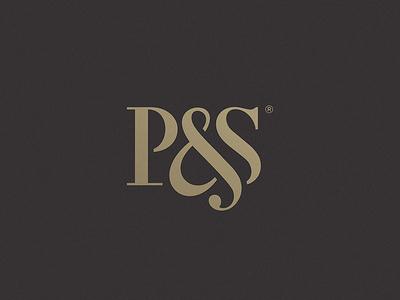 P&S serif investmen logo mark monogram ps initials