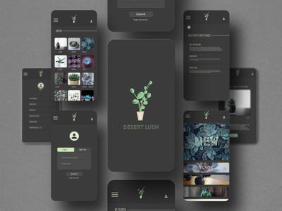 Desert Lush Shopping App dark ui dark mode simple design graphic design app design ui design app uiux ui