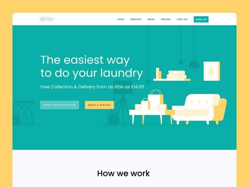 Laundry Website Design ui design ui ux vector design illustration website web startup dry cleaning laundry ecommerce uiux landing page ui interface landing page clothes ironing