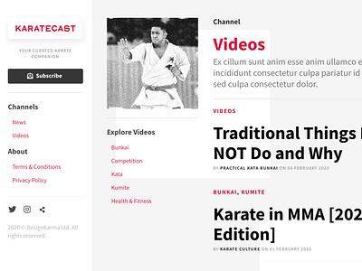 KarateCast branding design craft cms karate