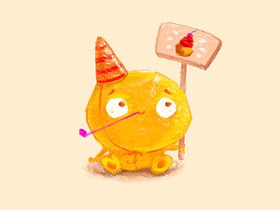 Happy birthday to me! art drawing digital cupcake monster cute cutemonster happybirthday