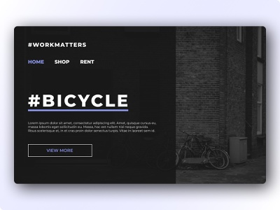 Bicycle Landing Page uxdesigns uidesigns landingpage app ux ui webdesign website concept clean colors minimal dribbble uxdesign uidesign uiux website builder website design rent bicycle website