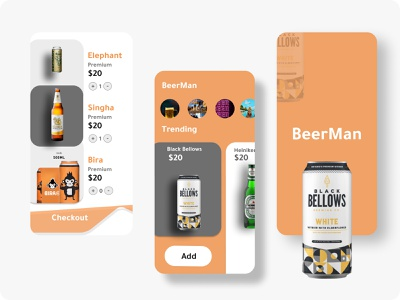 BeerMan App Concept sketch behance figma minimal dribbble colors clean product productdesign uidesign uxdesign appdesign android ios uiux ui appconcept app beerman beer