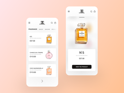 Chanel App Concept figma productdesign product ios android clean colors minimal dribbble uxdesign uideign ux ui app web fashionapp luxury lifestyle fashion chanel