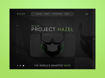 RAZER HAZEL Web Concept website landingpage website builder uiux web android ios clean minimal illustration mask websiteconcept ui ux design typogaphy colors dribbble art