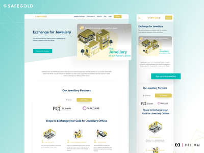 SafeGold landingpage website marketplace web ios android colors behance dribbble clean minimal productdesign uxdesign uidesign uiux ui safegold gold