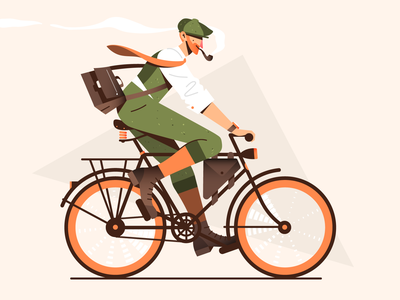 Vintage Ride! fashion elegant smoking ride bicycle retro vintage vector illustration