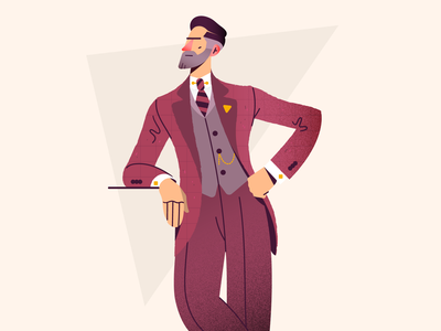 Whisky please 🥃 peakyblinders 1920s old fashioned oldstyle character retro vintage elegant vector illustration