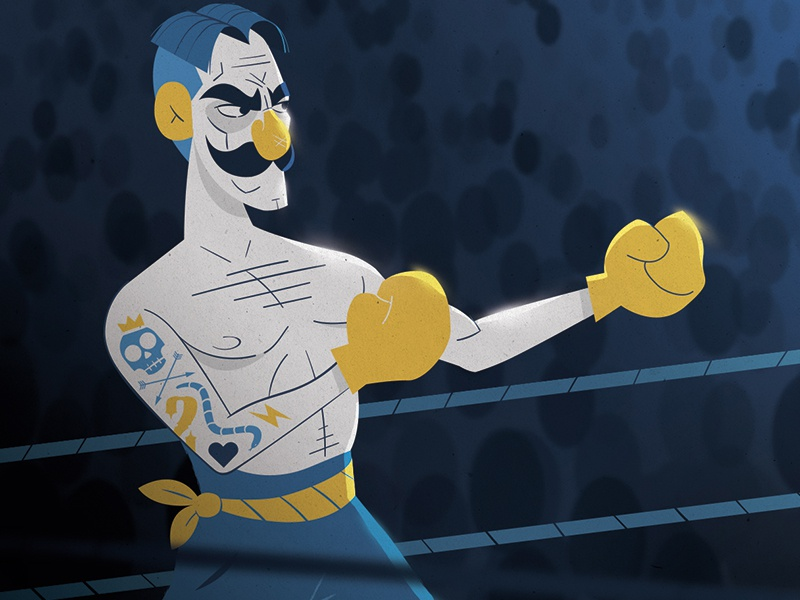 Boxer dribbble