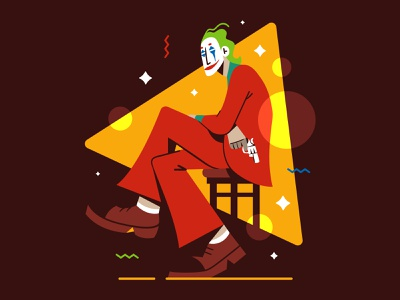 'Is it just me, or is it getting crazier out there?' 🤡 character illustration flat vector joker