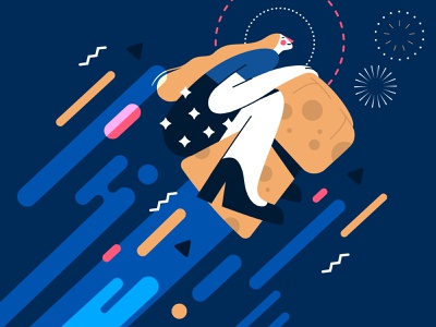 Champagne! 🍾🥂 woman illustration flat happynewyear party 2020 vector champagne
