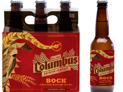 Bock Layout bock beer columbus brewing company billy goat illustration package