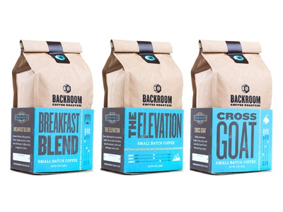 Backroom Coffee Roasters Packaging
