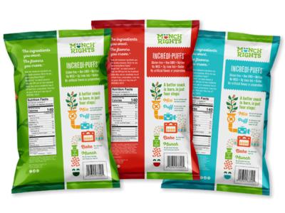 Munch Rights Back of Package logo design branding illustration packaging