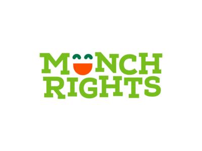 Munch Rights Logo logo design branding