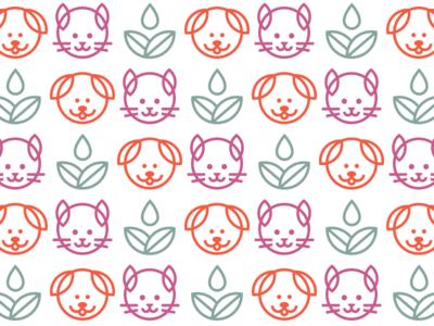 Sit. Stay. Grow. Pattern pattern logo design mark logo branding