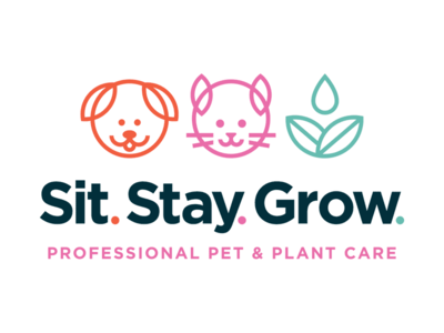 Sit. Stay. Grow. Logo
