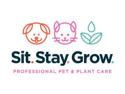 Sit. Stay. Grow. Logo logo design mark logo branding
