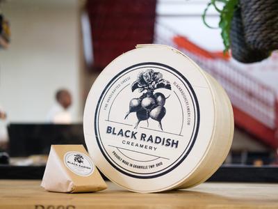 Black Radish Creamery Cheese packaging mark logo branding