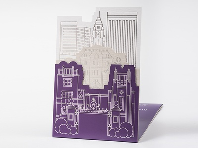 Capital University President Inauguration Invite invitation design illustration print