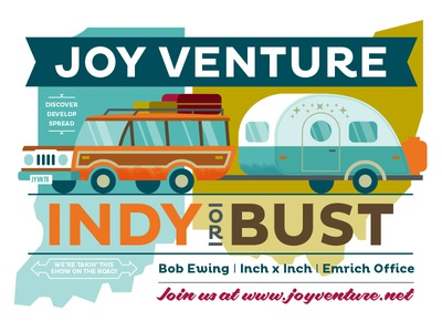 Joy Venture Indy or Bust Podcast Series ohio indiana x inch office emrich ewing bob venture joy podcast