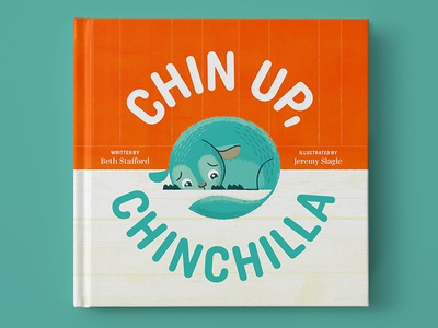 Chin Up, Chinchilla, book cover custom brushes illutrator adobe cover book chinchilla chin up chinchilla illustration childrens book