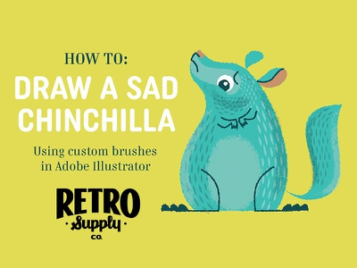 How to Draw a Sad Chinchilla illustration technique book childrens texture brushes illustrator adobe chinchilla up chin tutorial