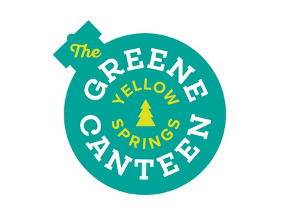 The Greene Canteen Alternate logo ohio restaurant tree pine pine tree canteen greene green