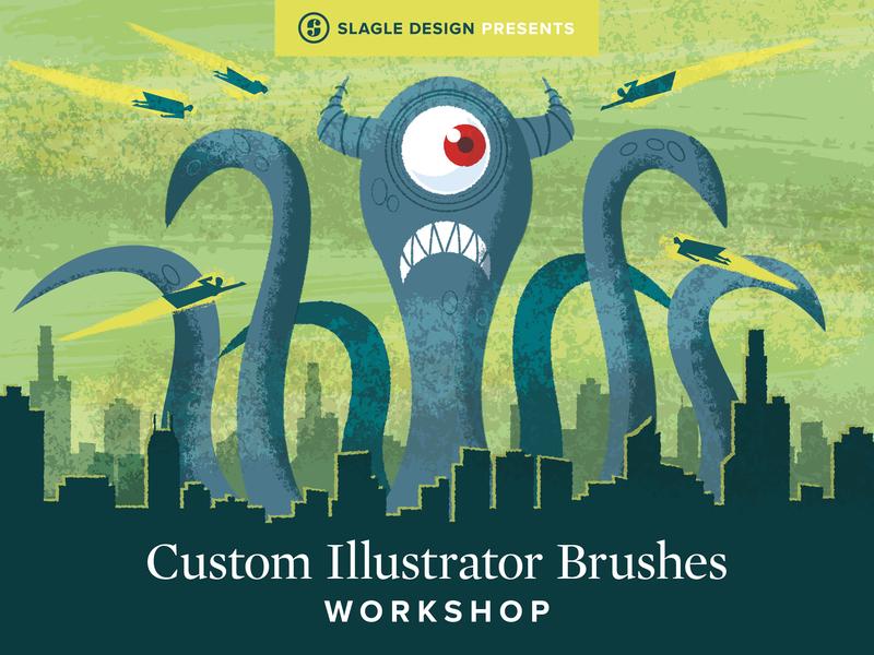 Custom Illustrator Brushes Workshop monster custom illustrator illustration