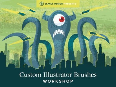 Custom Illustrator Brushes Workshop monster custom illustrator illustration