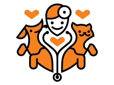 Vet Logo vet clinic logo dog cat love