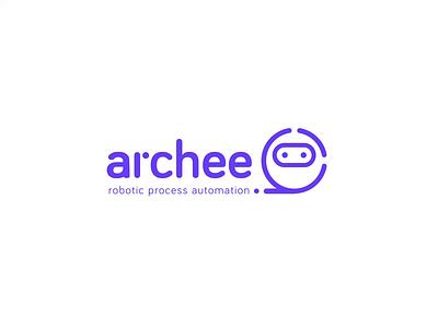archee logo vector animation consulting rpa violet robot design branding illustration logo