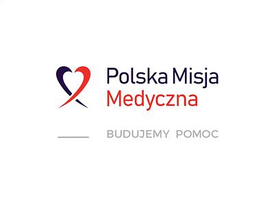 Polish Medical Misssion logo brand medical heart help aid charity animated typography brand identity logo design branding animation