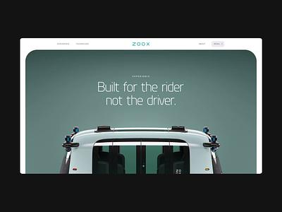 ZOOX - Vehicle interactive motion green dogstudio autonomous car web