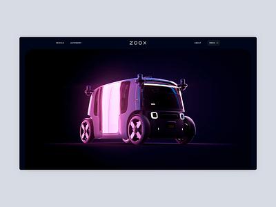 Zoox - Landing scroll dark 3d landing amazon design web interactive motion vehicle car dogstudio