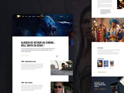Pathe • News Article guideline template layout newsroom blog article news aladdin movie film pathe