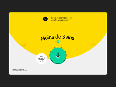 Majordome – Intro Animation green motion graphics motion design circle bubble yellow color typo after efftects web motion