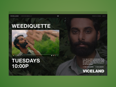 VICELAND - ISMOKEWEED.COM layout web website stink studios vice tv show weediquette weed viceland