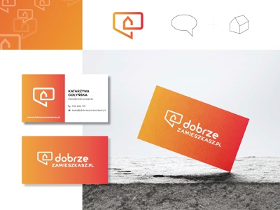 dobrzezamieszkasz.pl blog real estate branding design icon logo design logo business card