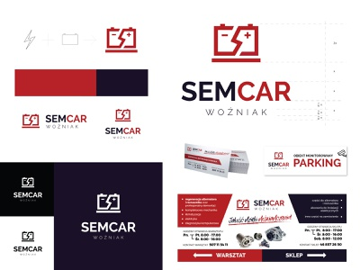 semcar automotive industry branding automotive industry logo design logo designer brand identity branding