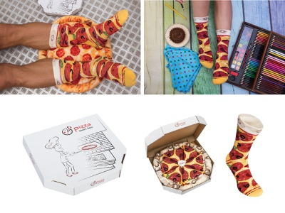 pizza socks box design textile pattern pattern for socks product gift socks