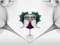 spirographic bird