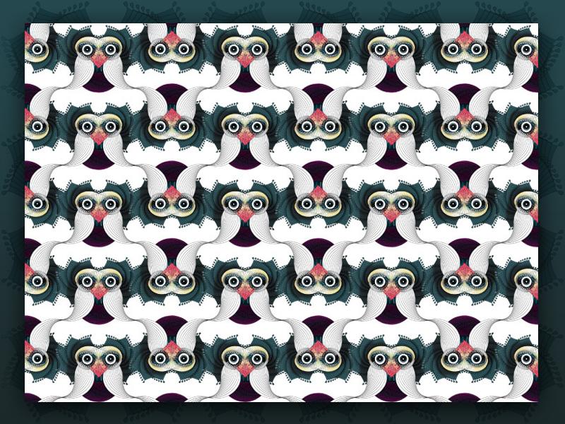 spirographic bird: patterned pattern spirograph bird