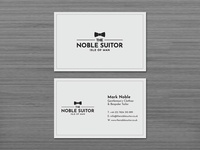 The Noble Suitor – logo and business card