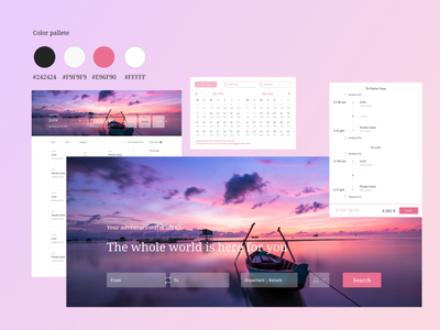 Where are you flying? ux productdesign flightbooking ui flight search webdesign web