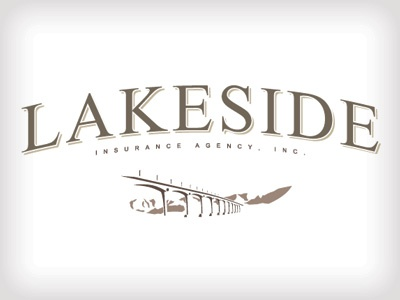 Lakeside Insurance logo insurance bridge vintage